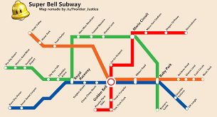 Paper Town Map The Curse And Blessing Of The Super Bell Subway Map Marioverse