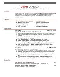 Police Officer Resume With No Experience Military Police Resume Military Resume Example Resume Examples
