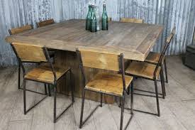 reclaimed wood square dining table square tables built from reclaimed wood ecustomfinishes inside large