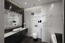 white color design wall mirror black varnished wooden vanity