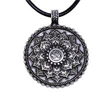 tibetan necklace images Yoga necklace for women men tibetan om lotus mandala pendant 4029 jpg