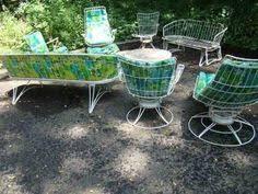 Mid Century Modern Outdoor Furniture by Pair Vintage Homecrest Swivel Rocker Chair Mid Century Modern