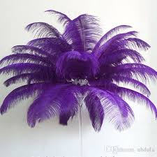 Table Decorations With Feathers Large Ostrich Feathers Purple Party Supplies Table Decoration