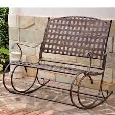 Metal Patio Rocking Chairs Metal Patio Rocking Chairs You U0027ll Love Wayfair
