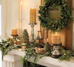 fetching image of christmas staircase decoration using gold ribbon
