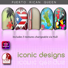 second life marketplace iconic designs puerto rican nails