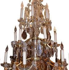 Bronze Chandelier With Crystals Villamelrose Chandeliers