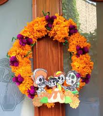 Dia De Los Muertos Halloween Decorations Diy Corona De Flores Naturales Cempasúchil Dia De Muertos