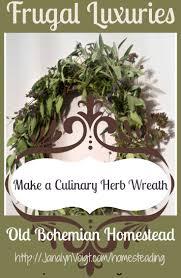 herb wreath make a culinary herb wreath janalyn voigt