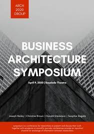 design event symposium customize 296 event program templates online canva