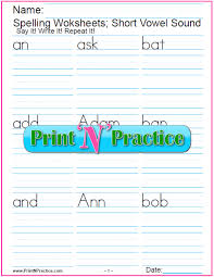 short vowel worksheets preschool kindergarten u0026 esl