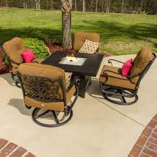 patio furniture with fire pit table furniture patio furniture sets with fire pit table built in costco