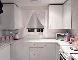 white gloss kitchen cupboard wrap creates mrs hinch inspired kitchen using 28
