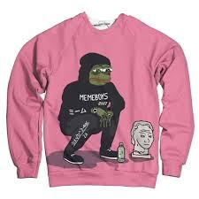 Meme Pink - meme boys sweatshirt wearyourface