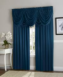hyatt window curtain u0026 fringed valance complete 9 piece window