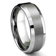 wedding band 8mm tungsten metal s wedding band ring in comfort fit and