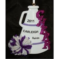 cheerleading ornaments decore