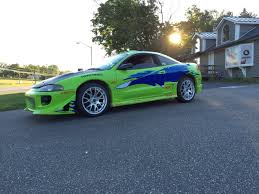 fast and furious cars replica of the mitsubishi eclipse paul walker drove in the fast
