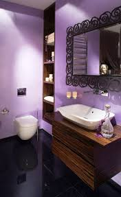 modern violet small bathroom paint ideas and white wash basin