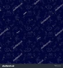 theme line winter seamless fabric outline idle line blue stock vector 540459808