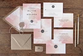 paper invitations watercolor wedding invitations mywedding