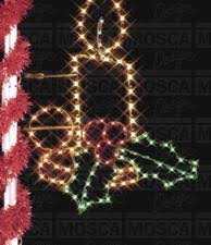 pole mounted decorations lights garland wreaths mosca design