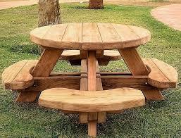 picnic table wood wood picnic bench treenovation