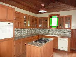fantastic prefab cabinets with cooktop and kitchen island also