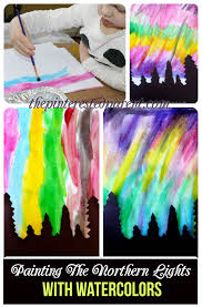 northern lights with watercolors u2013 the pinterested parent