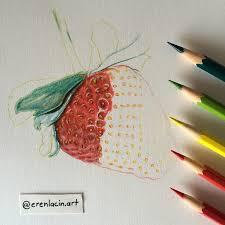 wip color drawing pencil u0027 strawberry u0027 by erenlacin on deviantart