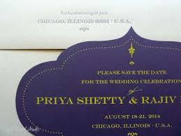 Modern Indian Wedding Invitations Real Card Studio Modern Indian Wedding Save The Date Card