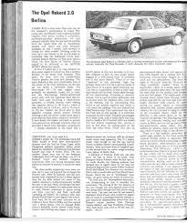 the opel rekord 2 0 berlina motor sport magazine archive