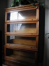 Glass Enclosed Bookcases Rare Antique Oak Corner Globe Wernicke Barristers Bookcase Martin
