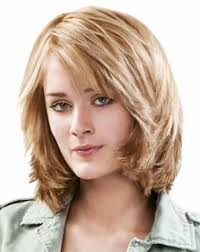 medium length layered hairstyles for thick hair shoulder length