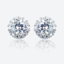 warren stud earrings diana sterling silver diamonflash cubic zirconia cluster stud earrings