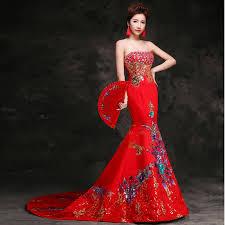 robe mari e orientale robe de soirée orientale trail femmes cheongsam robe longue qipao