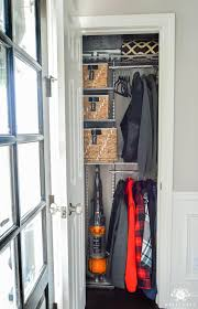 organized foyer coat closet before and after makeover foyers