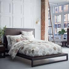 West Elm Platform Bed Emmerson Modern Reclaimed Wood Bed Gray West Elm