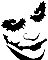 Free Scary Halloween Pumpkin Stencils - easy printable pumpkin stencils joker pumpkin stencil by