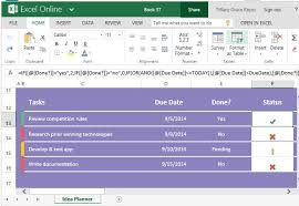 Excel Task Management Template Idea Planner Template For Excel For Tasks Goals And Objectives