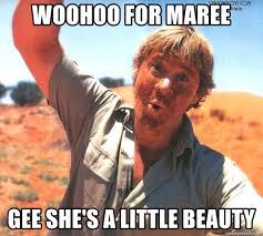 Ooh Meme - woohoo for maree gee she s a little beauty steve irwin ooh