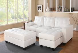 Reversible Sectional Sofa by Amazon Com 2 Pc Lyssa Collection White Bonded Leather Match