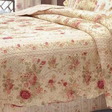 antique cotton floral quilt bedding set