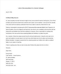 reference letter colleague resume cover letter