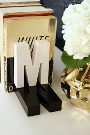 monogram bookends fabric paper glue easy diy gift shadow monogram bookends