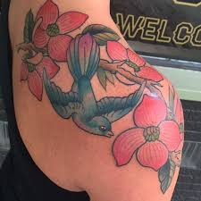 Big Flower Tattoos On - 90 dogwood flower designs and meaning flowertattooideas com