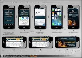 heavy vector ui app mock up designs