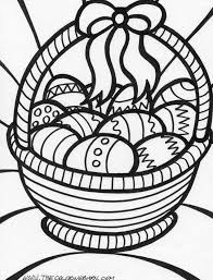 coloring sheet easter basket coloring page easter basket with