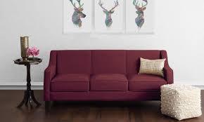 Wooden Sofa Legs Online India Buy Hayden 3 Seater Sofa Online In India Livspace Com