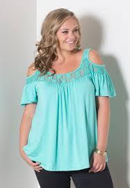 open shoulder blouse lace design cold shoulder plus size blouse addicted2fashion